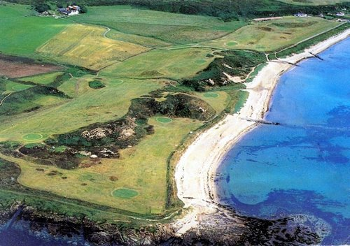 Shiskine Golf Course from the air, Isle of Arran